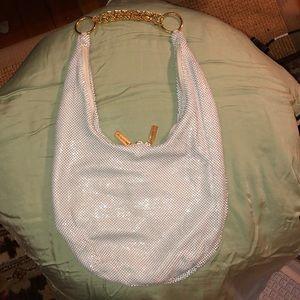 Whiting and Davis White Mesh  Purse - Handbag